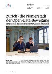 Zürich - die Pionierstadt der Open-Data-Bewegung