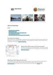 13.09.2013 Newsletter eZürich