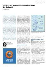 18.11.2011 eGov-Präsenz 02/11: eZürich – Investitionen in eine Stadt