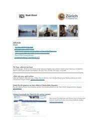 17.04.2013 Newsletter eZürich