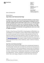 30.10.2012 Open Data an der Kantonsschule Enge - eZürich