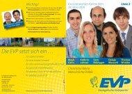 Die EVP setzt sich ein … … für starke Familien - jEVP