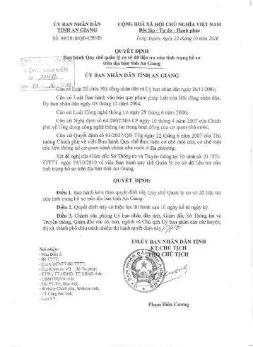 49/2010/QB-UBND CONG HO A XA H0I CHU NGHIA VIET NAM Doc ...