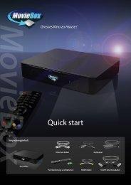 MovieBox Quick start - DVD