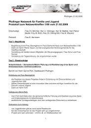 Pfullinger Netzwerk für Familie und Jugend Protokoll zum ...