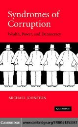 CORRUPTION Syndromes of Corruption