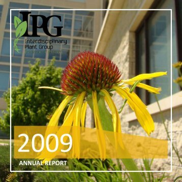 annual report - Interdisciplinary Plant Group - University of Missouri
