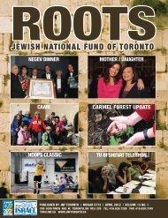 Roots - JNF TORONTO - Jewish National Fund of Canada