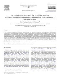 An optimization framework for identifying reaction ... - Costas Maranas