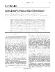 Minimal Reaction Sets for Escherichia Coli Metabolism under ...