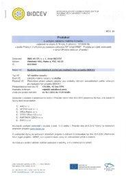Protokol o veřejné zakázce - Biocev