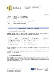 Protokol o otevírání obálek - Biocev