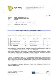 Protokol o posouzení kvalifikace - Biocev