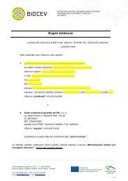 Příloha č. 2h) - návrh kupní smlouvy k části 8 veřejné zakázky - Biocev