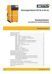 Holzvergaserkessel ETA SH 20 bis 60 Standardschemen