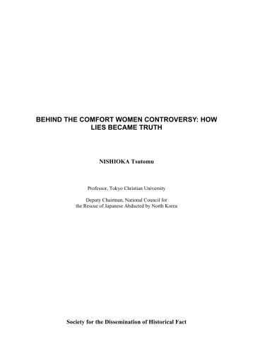 behind the comfort women controversy: how lies became truth