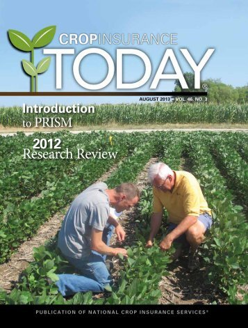August 2013 - National Crop Insurance Services
