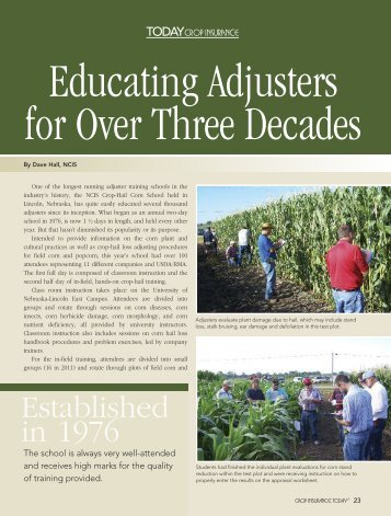 Educating Adjusters for Over Three Decades