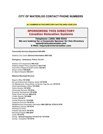 canadian phone number
