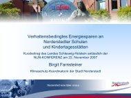 Verhaltensbedingtes Energiesparen an Norderstedter Schulen und ...