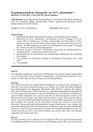 Protokoll AG Hochschule 13. Juni 2007 - NUN