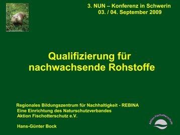 Qualifizierung für nachwachsende Rohstoffe - NUN
