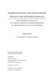 Diplomarbeit zur Zertifizierung außerschulischer Lernorte und ...