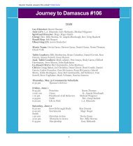 May 2012 - Journey to Damascus