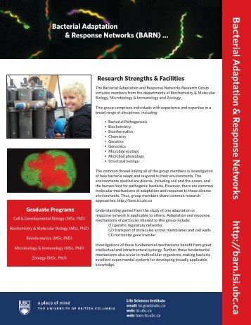 LSIBooklett V.25.indd - Bacterial Adaptation & Response Networks