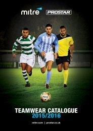 Mitre Prostar Teamwear Catalogue 2015-2016