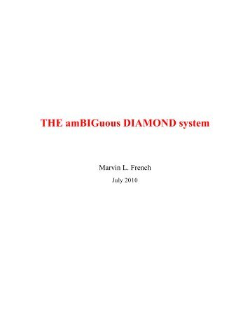 THE amBIGuous DIAMOND system - Pcfly