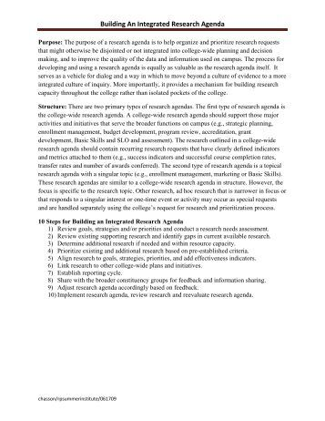 Sample Research Committee Mission Statements - The Rp Group