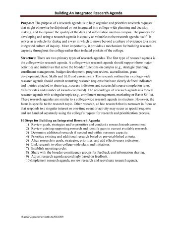 Sample Research Committee Mission Statements   The Rp Group