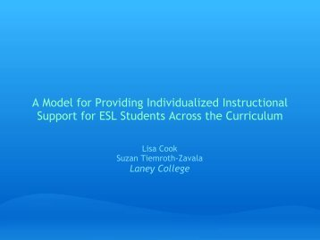 A Model for Providing Individualized Instructional ... - The RP Group