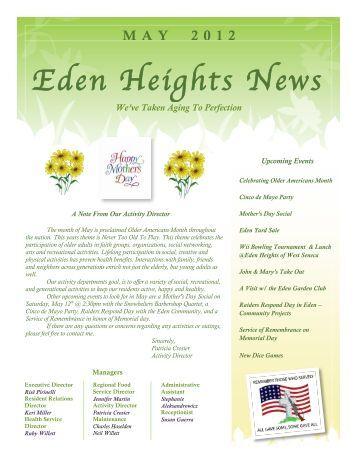 May Newsletter 2012 - Premier Senior Living