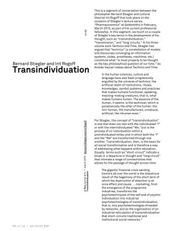 Transindividuation - e-flux Layout Generator