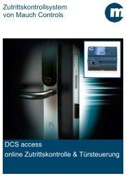 Download DCS access Zutrittskontrolle Prospekt - Mauch Controls