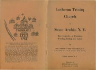 Lutheran Trinity Church Stone Arabia, N. Y. - Crego-Jones Family ...