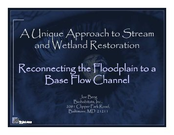 A Unique Approach to Stream and Wetland Restoration ...