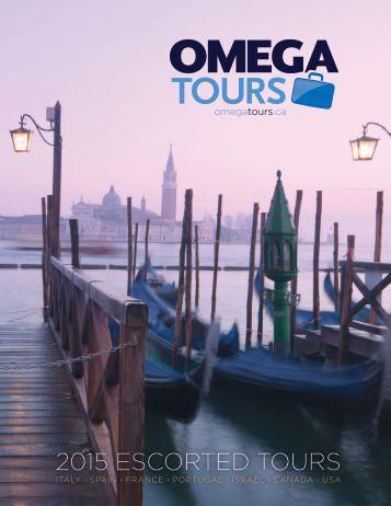 Omega Tours - 2015 Escorted Tours