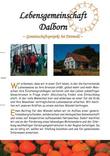 kurzflyer Dalborn - Lebensgemeinschaft Dalborn
