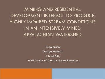 Mining Example - WVU Division of Forestry and Natural Resources