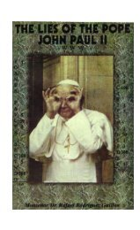 The Lies of Pope John Paul II