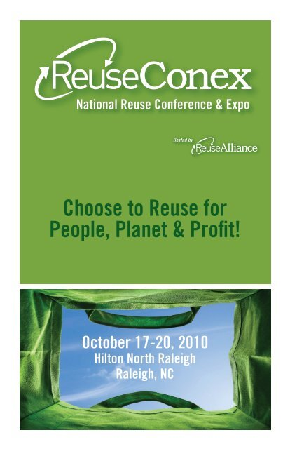 Choose to Reuse for People, Planet & Profit! - Reuse Alliance