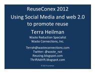 ReuseConex 2012 Using Social Media and web ... - Reuse Alliance