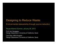 UC Davis Presentation 1-26-12 2012 - Reuse Alliance