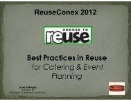 ReuseConex 2012 - Reuse Alliance