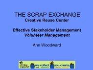Ann Woodward, The Scrap Exchange - Reuse Alliance