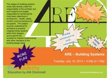 Building Systems - AIA Cincinnati