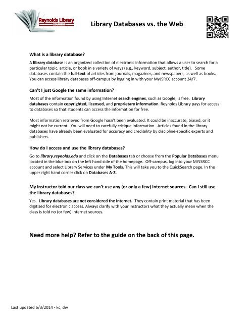 Handout - Library